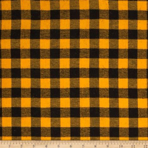 Washing Upholstery Fabric Yarn Dyed Flannel Plaid Yellow Black Discount Designer