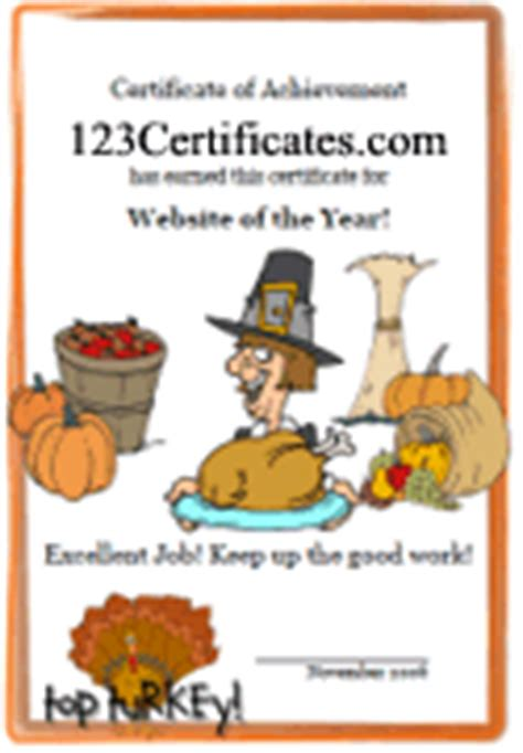 Printable Holiday Certificate Templates And Award Ideas Turkey Voucher Template