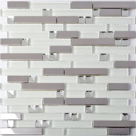 bathroom tile strips tst glass metal tiles silver mirror white strips diamond