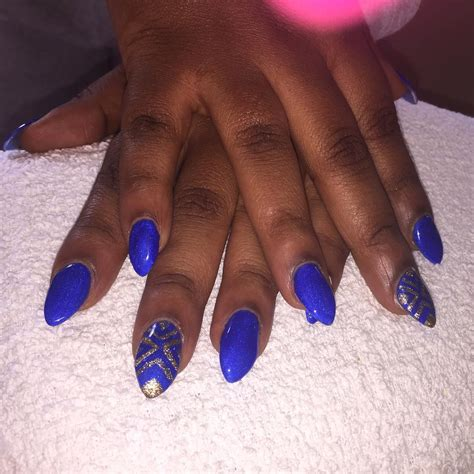 nail color for african women 21 royal blue nail art designs ideas design trends