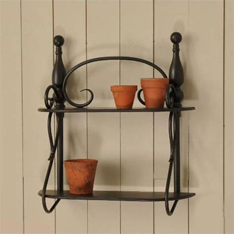 Wrought Iron Bathroom Shelves Black Wrought Iron Shelf Itsybitzy S Store