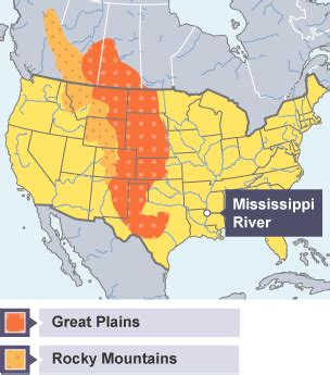 america map great plains bitesize gcse history the great plains revision 1