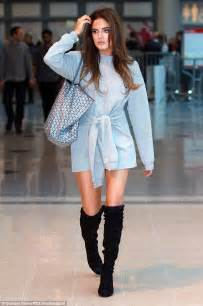 Dress Gisel Ky binky felstead heads to the clothes show amid made in