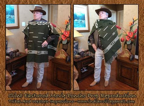 cowboy film equipment clint eastwood poncho reproduction from tribal and western