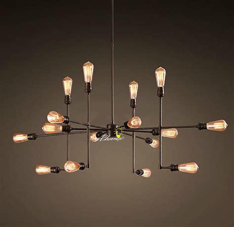 Diy Sputnik Chandelier by Antique Loft Rh 9 16 Edison Bulbs Pendant Lighting