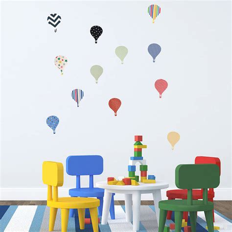 Air Balloons Wall Sticker children s air balloon wall stickers by oakdene