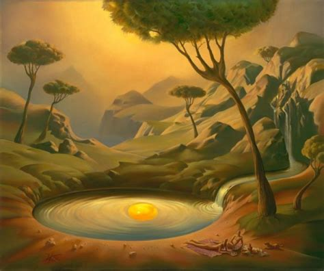 solid planet surrealism paintings by vladimir kush