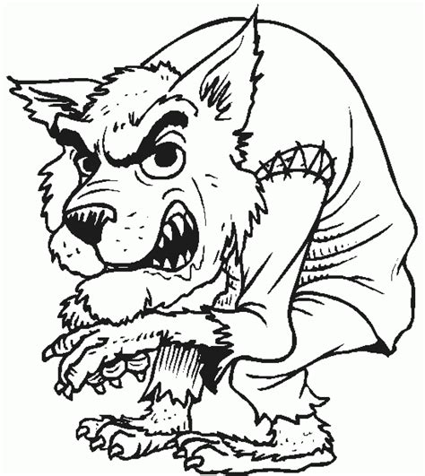 halloween wolf coloring pages creepy werewolf wolfman halloween coloring page