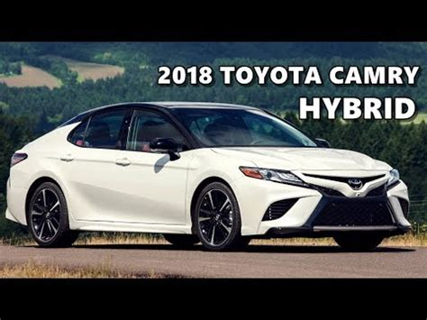 2018 toyota camry hybrid driving, walkaround youtube