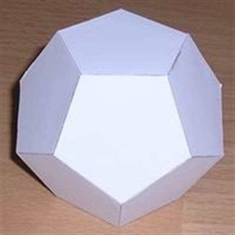 How To Make Solid Shapes With Paper - platonic solid pictures of and mathematicians on
