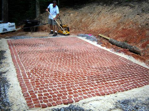 how to install a patio how to install a cobblestone patio how tos diy