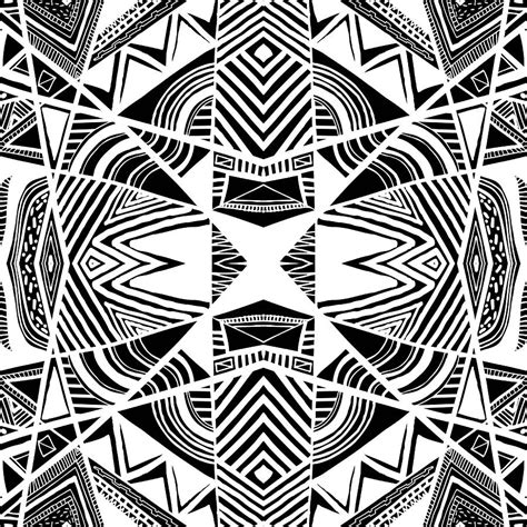 pattern drawing black ornamental intersection abstract black and white graphic