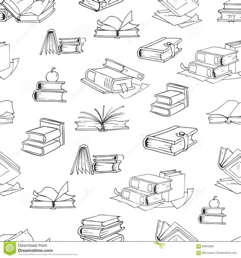 vector pattern library doodle library book seamless vector pattern background