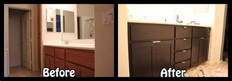 how to refinish a bathroom cabinet refinishing kitchen cabinets before and after