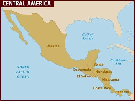 map of us and central america map of central america