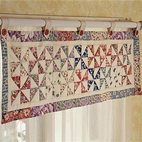 Quilt Pattern Valance | pinwheel window valance is a delightful touch quilting