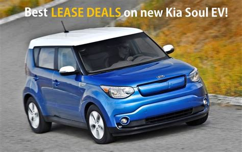 Leasing Kia Kia Announces Attractive Lease Deals On 2015 Soul Electric