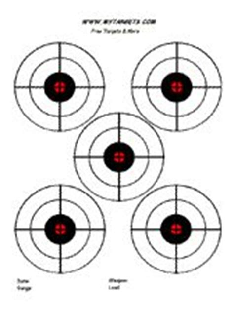 printable 22lr targets 5 bullseye targets nerf free printable birthdays pinterest
