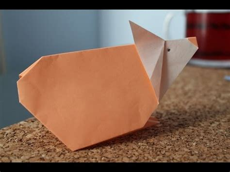 Hamster Origami - how to make an origami hamster