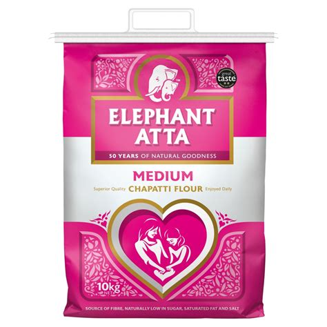Icha Top Atta 1 elephant atta medium chapatti flour 10kg bestway wholesale