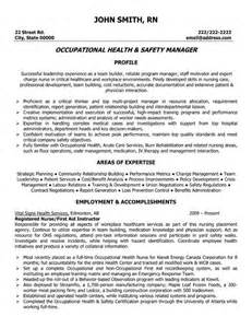 Environmental Health Specialist Cover Letter by Occupational Health And Safety Manager Resume Template Want It It Workplace Health