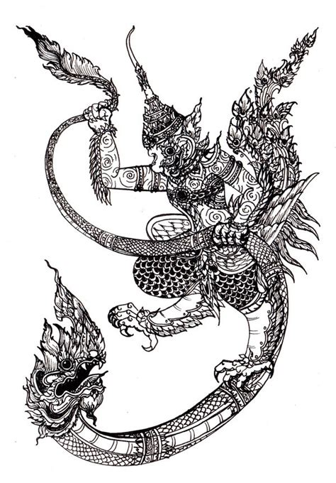 tattoo naga tribal thai art naga garuda buddha tattoo pinterest