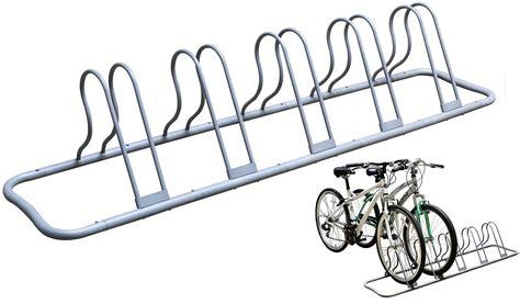 5 Bike Floor Rack by Decobros 5 Bike Bicycle Floor Parking Adjustable Rack