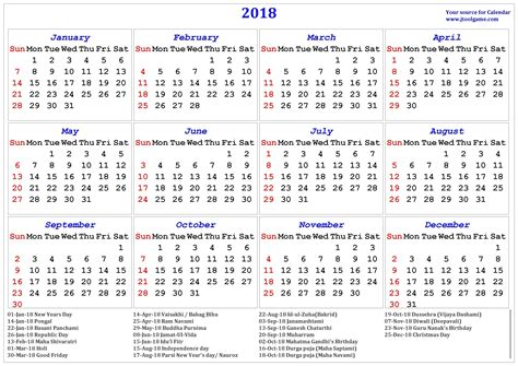 calendar 2018 with indian holidays mathmarkstrainones com