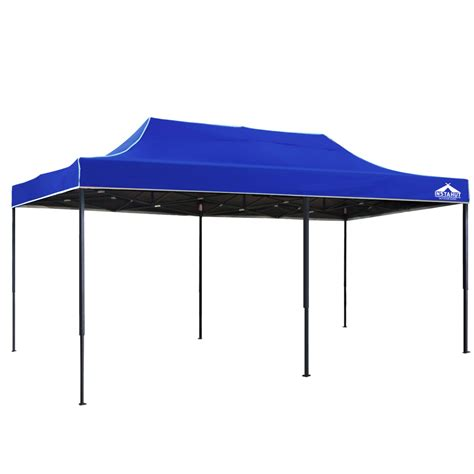 3m x 3m pop up garden outdoor gazebo blue