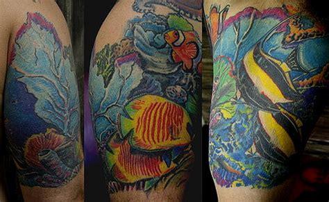 underwater scene tattoo designs vinny burkhart underwater