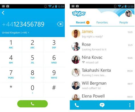 skype free for android skype for android 4 0 now available with new streamlined design