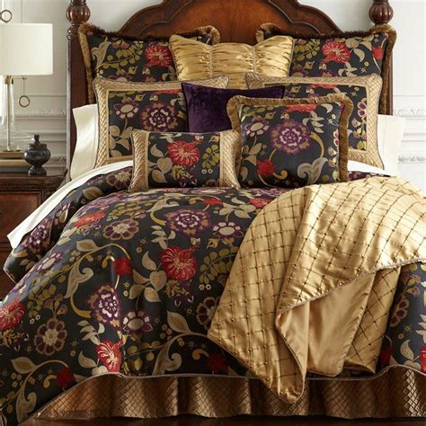 Black Floral Bedding Sets Escapade Black Floral Comforter Bedding By Horn Classics