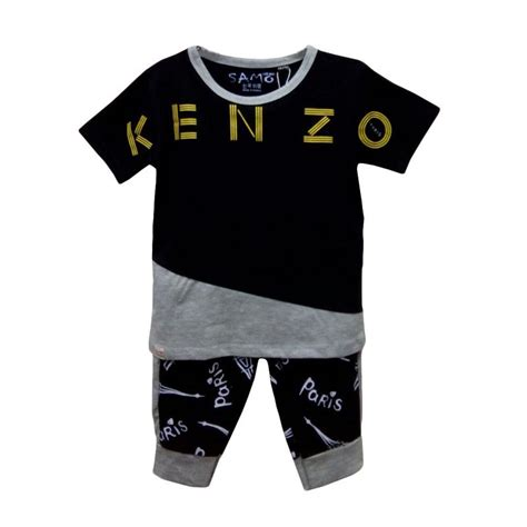 Setelan Stelan Tshirt Kaos Baju Anak Laki Robocar Poli Rp091217 jual import kid 034 setelan baju bayi laki laki hitam