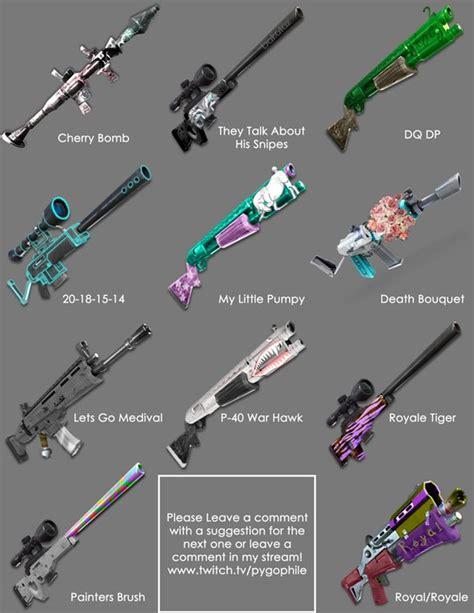 what fortnite gun are you fan made fortnite gun skins fortnitebr