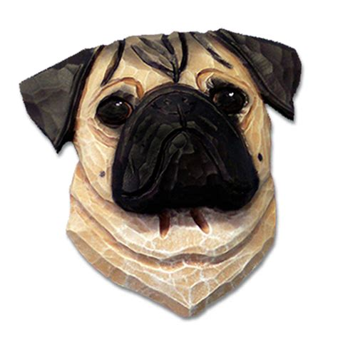 pug figurines pug plaque figurine fawn