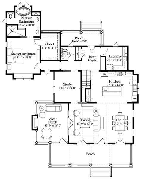 river house floor plans river place cottage southern living house plans