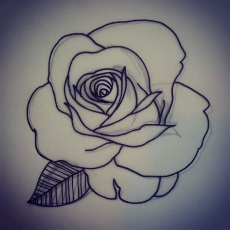 rose dotwork tattoo outline flower dotwork design