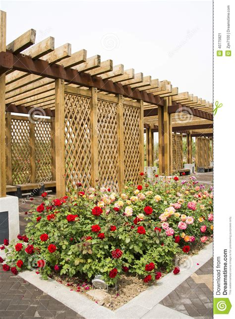 Expo Gardens by China Wood Structure House Stock Photo