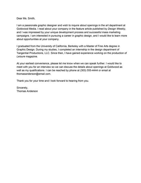 Letter Of Interest Email