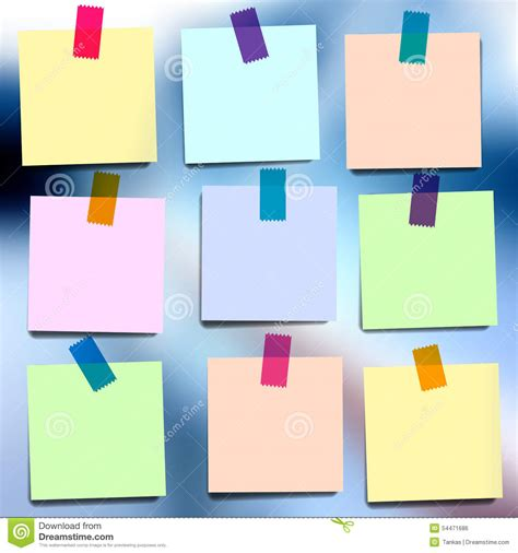 Sticky Wallpaper | sticky notes wallpaper stock vector illustration of