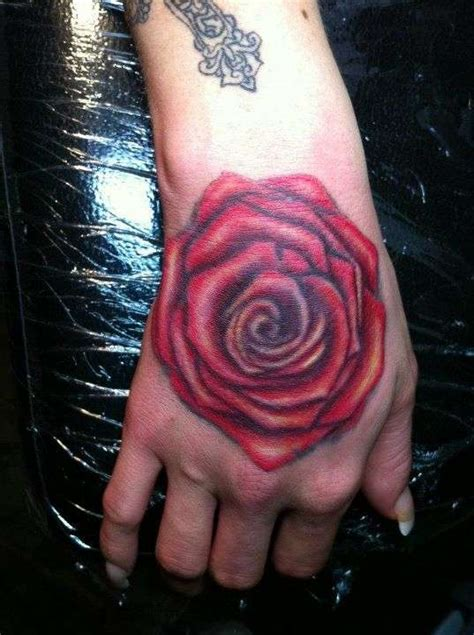 hd tattoo in hand hd black rose and skull tattoo design idea for men and women