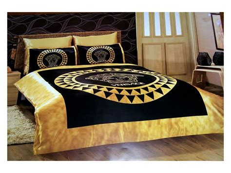 versace bedding set satin medusa duvet set b
