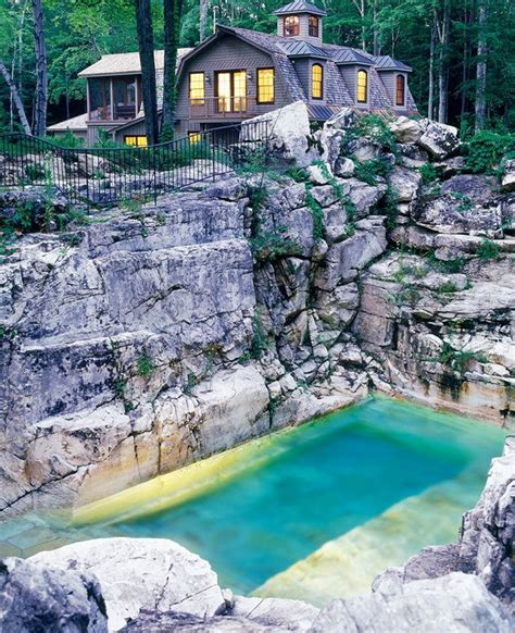 beautiful backyard pools is this quarry the most beautiful backyard pool in america