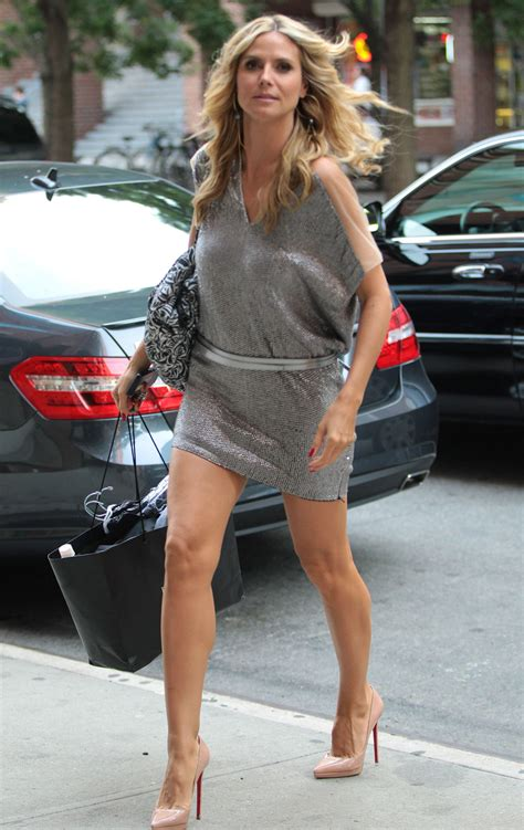 Whos Hotter Will Ferrell Or Heidi Klum by Heidi Klum S Minidress Could Not Get Any Shorter Photo