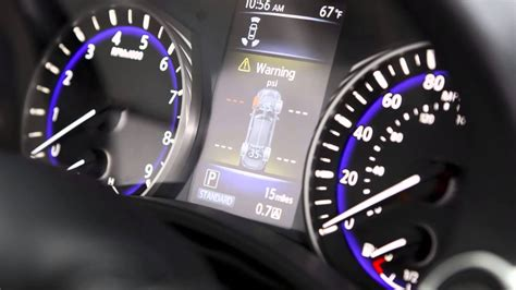 infiniti  tire pressure monitoring system tpms  tire inflation indicator youtube