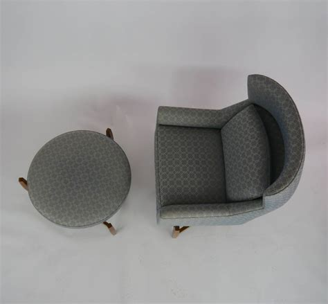 big chair with ottoman rare jens risom quot big chair quot with ottoman at 1stdibs