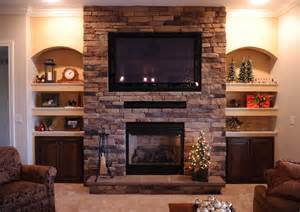 built in cabinets with fireplace