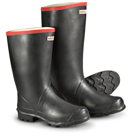mens rubber boots s 174 argyll rubber boots black 164237