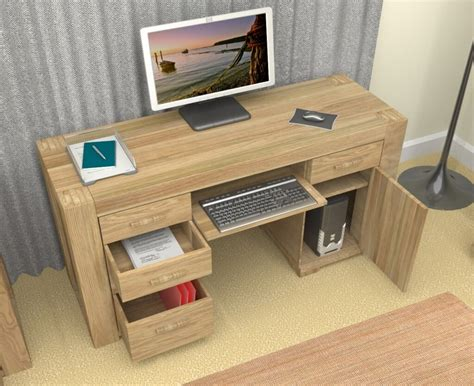 10 Elegant Oak Computer Desk Design Ideas Minimalist Wood Desks For Home Office