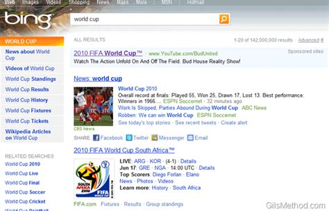 bing search worldwide feature 25 awesome world cup resources online